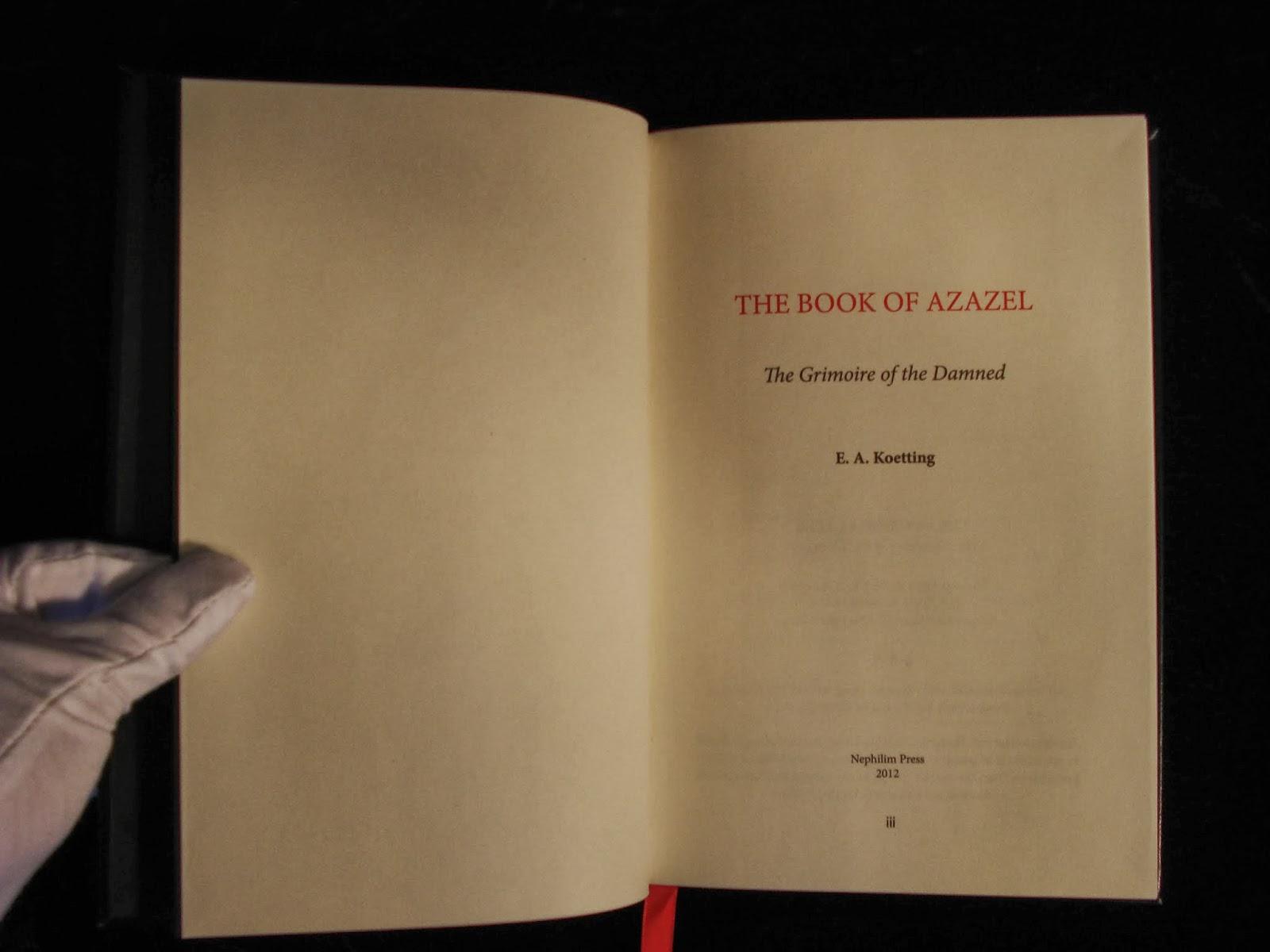 BALKAN'S ARCANE BINDINGS: The Book of Azazel: The Grimoire