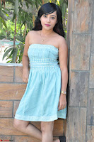 Sahana New cute Telugu Actress in Sky Blue Small Sleeveless Dress ~  Exclusive Galleries 035.jpg