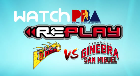 Video List: SMB vs Ginebra game replay January 28, 2018 PBA Philippine Cup