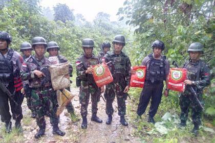 Lagi, Satgas Yonif Para Raider 501 Kostrad Amankan 4,5 Kg Ganja di Perbatasan