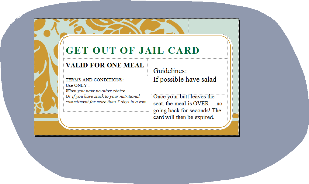 Fitness training for life and adventures june 2013 for Get out of jail free card template