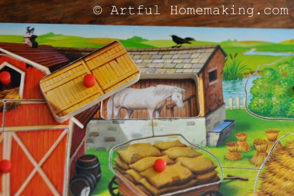 Fine Motor Coordination: Keeping Little Ones Hands Busy. farm peg puzzle