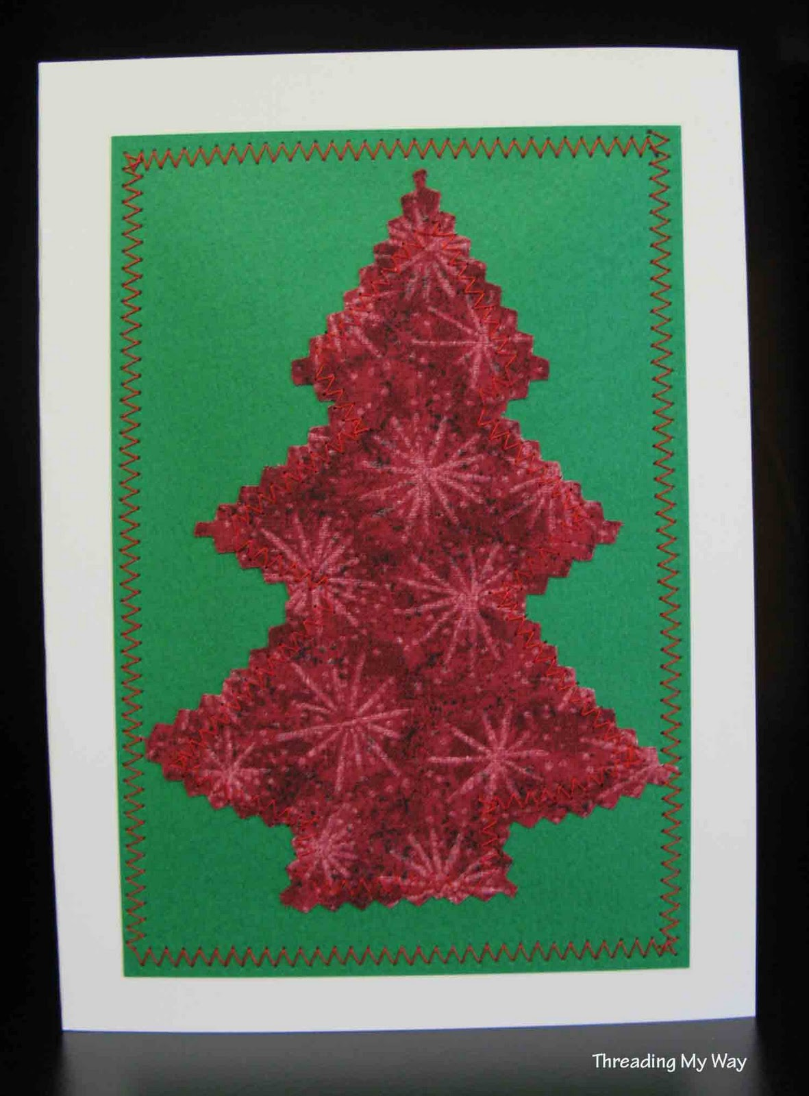 Threading My Way: Sewn Christmas Cards...