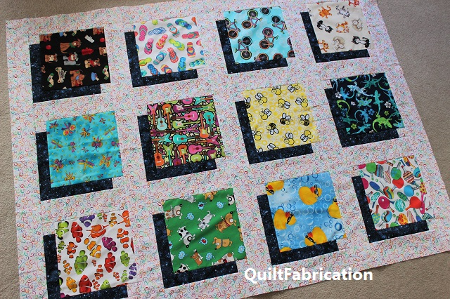 shadow quilt using 10 inch squares