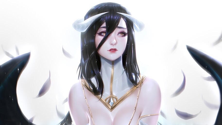 Beautiful, Anime, Girl, Albedo, Overlord, 4K, #6.2206