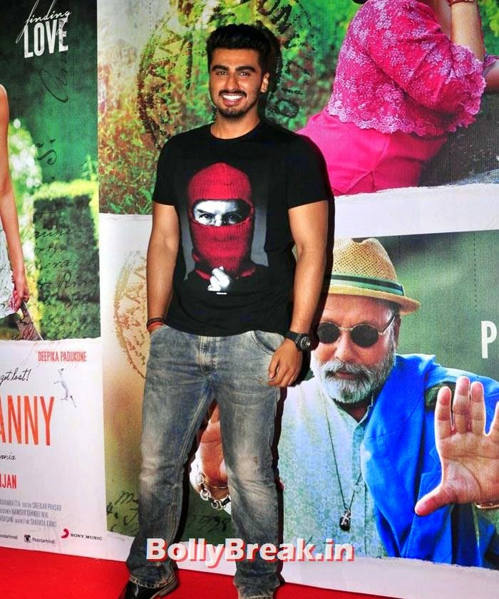 Arjun Kapoor, Deepika, arjun, Hrithik Pics from Finding Fanny Movie Screening