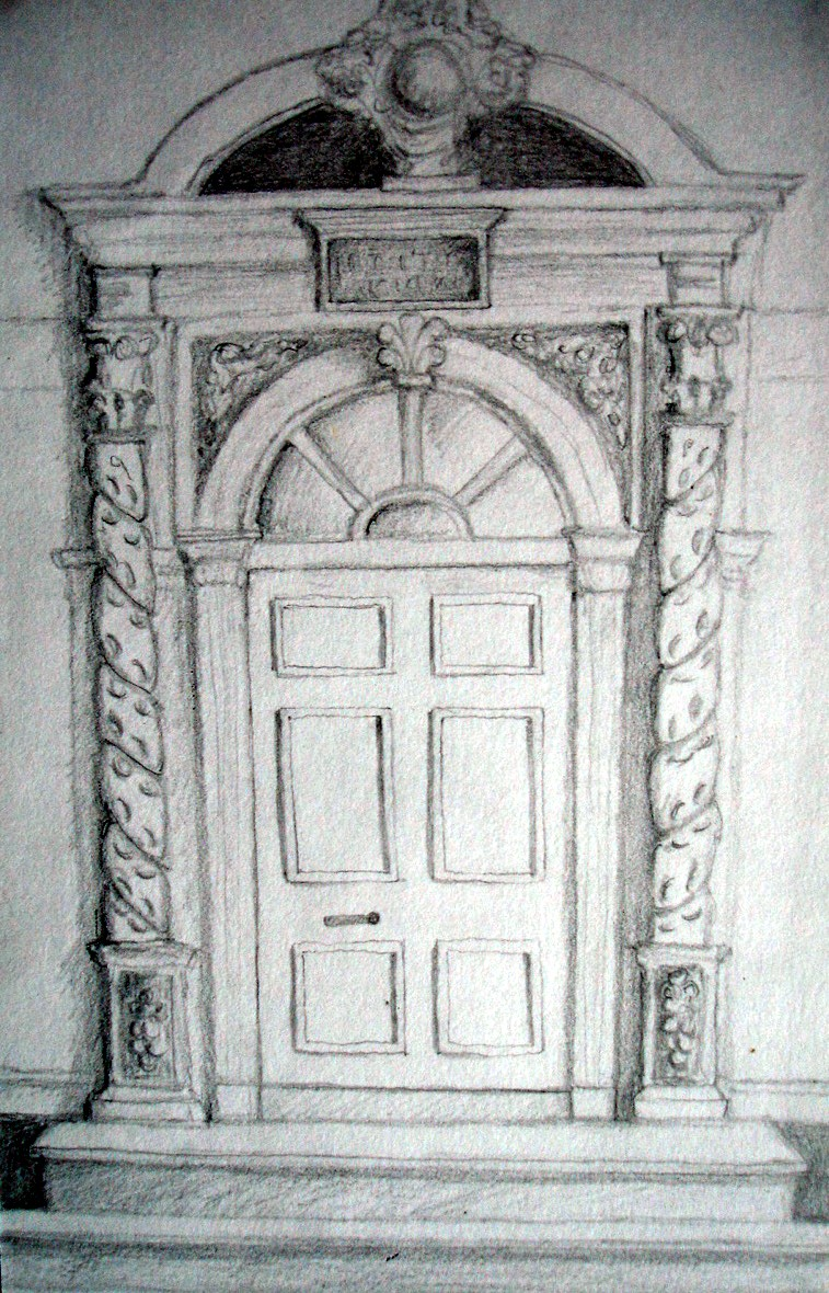 Door pencil drawing - Pencil Sketchtredegar House Door Of Tredegar House Newport South Wales Door Pencil Drawing R 837429342 Door