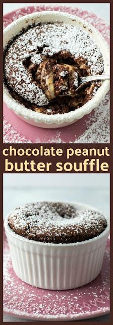 Chocolate Peanut Butter Souffles