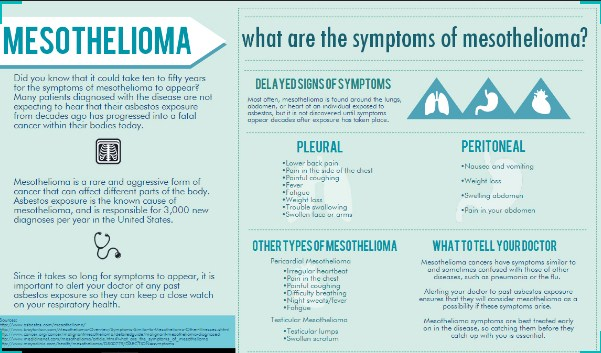 what is actually happening with what are the symptoms ofif you see any of these aforementioned indications of mesothelioma and also know you\u0027re exposed to asbestos previously, you might be suffering from