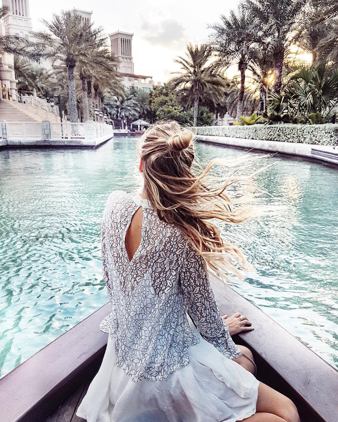 Fairy tale feels, floating into sunset. visitdubai dubai ad