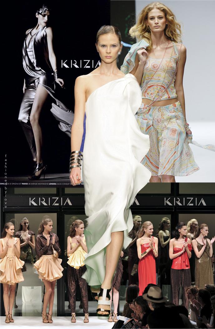 Krizia Fall/Winter 2010 campaign, Krizia Spring/Summer 2010, Krizia Spring/Summer 2009 & Krizia Spring/Summer 2011 / Mariuccia Mandelli Krizia fashion designer biography via www.fashionedbylove.co.uk