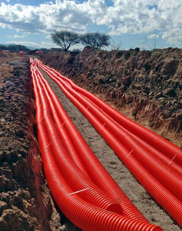 Instalaciones eléctricas residenciales - Tendido de tubería conduit en redes suberráneas