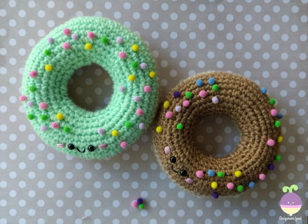 Free Online Crochet Patterns For Amigurumi : Amigurumi Food: Easy peasy Amigurumi donut Free Crochet ...