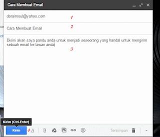 Isikan Kepada Judul Isi dan Kirim Email