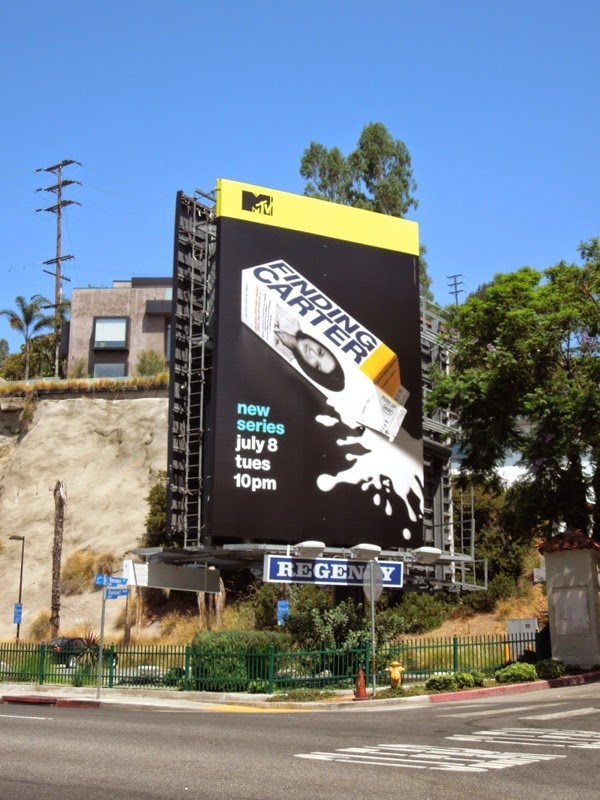Finding Carter milk carton MTV billboard