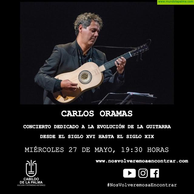 Carlos Oramas presenta el espectáculo Vihuela y Guitarra en #NosVolveremosaEncontrar