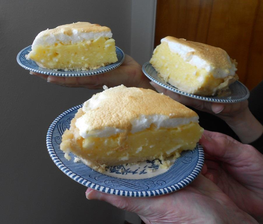 Three Pieces of Lemon-Marshmallow Cream Pie