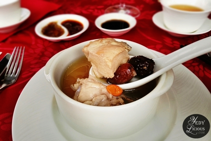 Double-Boiled Chicken with Red Dates and Wolfberry Soup Lung Hin, Marco Polo Ortigas Manila: New & Classic Dishes, Exquisite Abalone, and Chinese Lunar New Year Celebration, Lung Hin Restaurant Review Marco Polo   Manila, Best Chinese Restaurant in Manila, Marco Polo Blog Review Website Rate Price Facebook Twitter Instagram YedyLicious Manila Food Blog