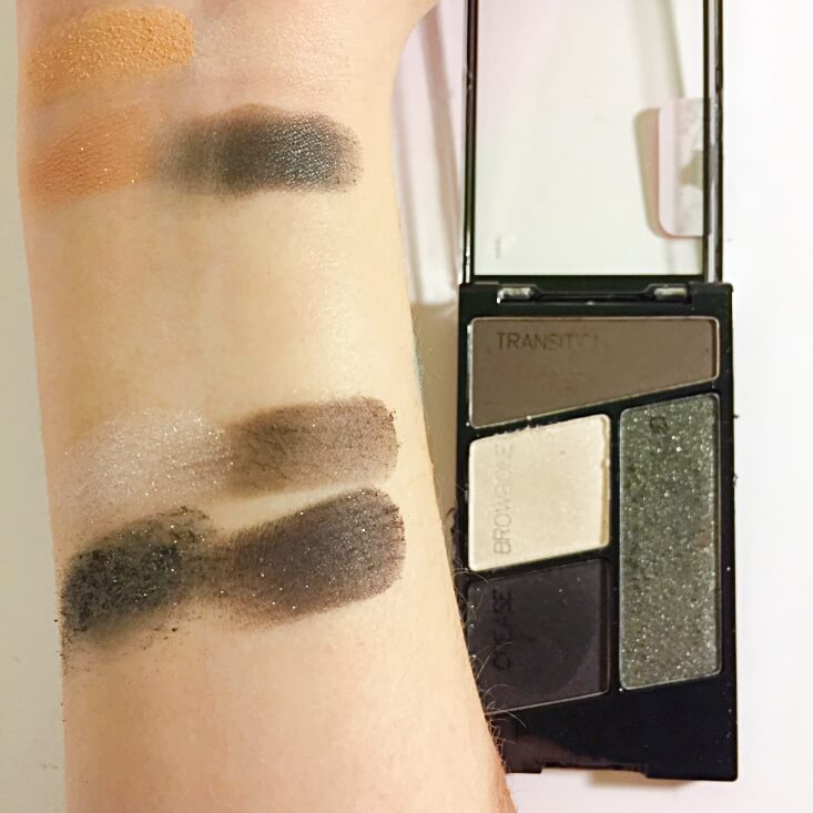 wet n wild coloricon Eyeshadow Quad Lights Out swatch