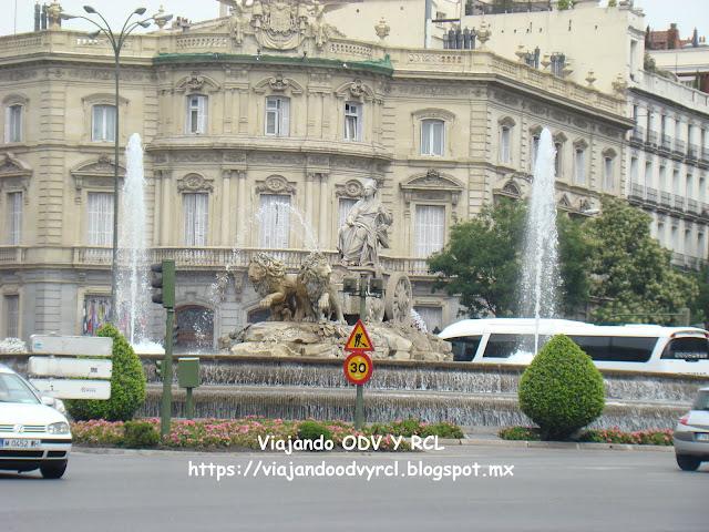 Que hacer, a donde ir, que visitar en Madrid. Fuente de Cibeles