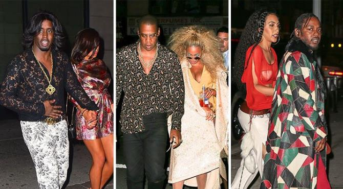 When Beyonce wants her guests to rock 1970s getups for her birthday … best believe they fall into formation.  Queen Bey turned 35 over the weekend, but come Monday, she threw herself a Sooouuuuuul Train-themed rooftop party at The Nomad Hotel in NYC. All the celebs in attendance turned out in '70s gear … and then hit the dance floor to get their groove on.