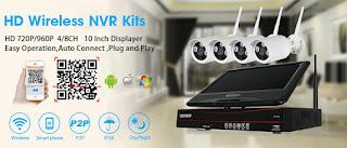 kit dvr 4canali wireless con monitor