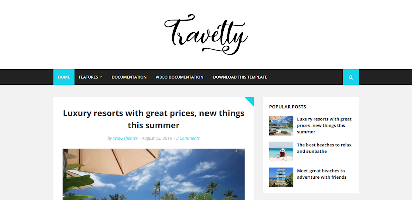 Travelty Free Blogger Template