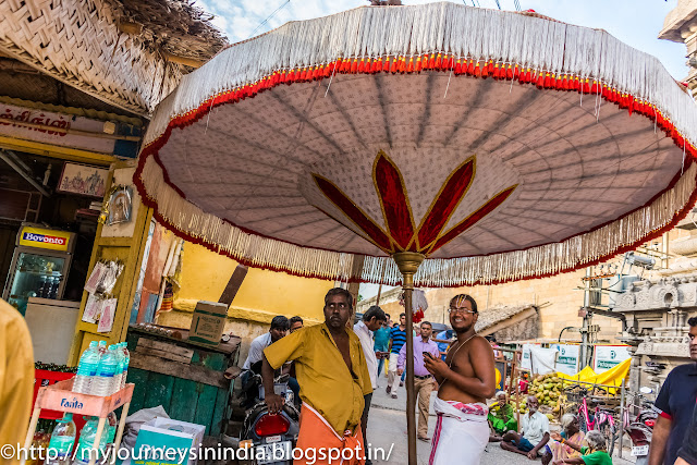 Kanchipuram Varadharaja Perumal Temple Huge Umbrella