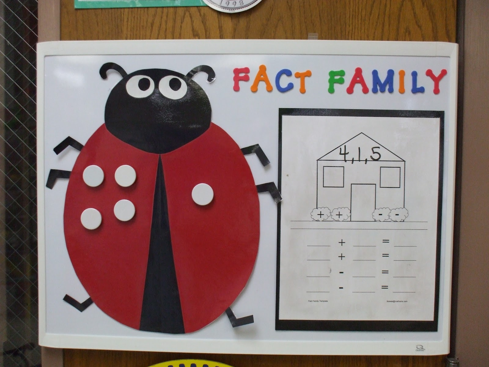 Welcome To First Grade Room 5 Fact Family