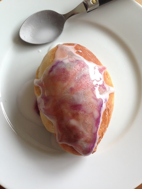 homemade iced bun