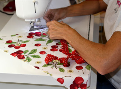 Cherry Jubilee Womens Apron by Creative Chics