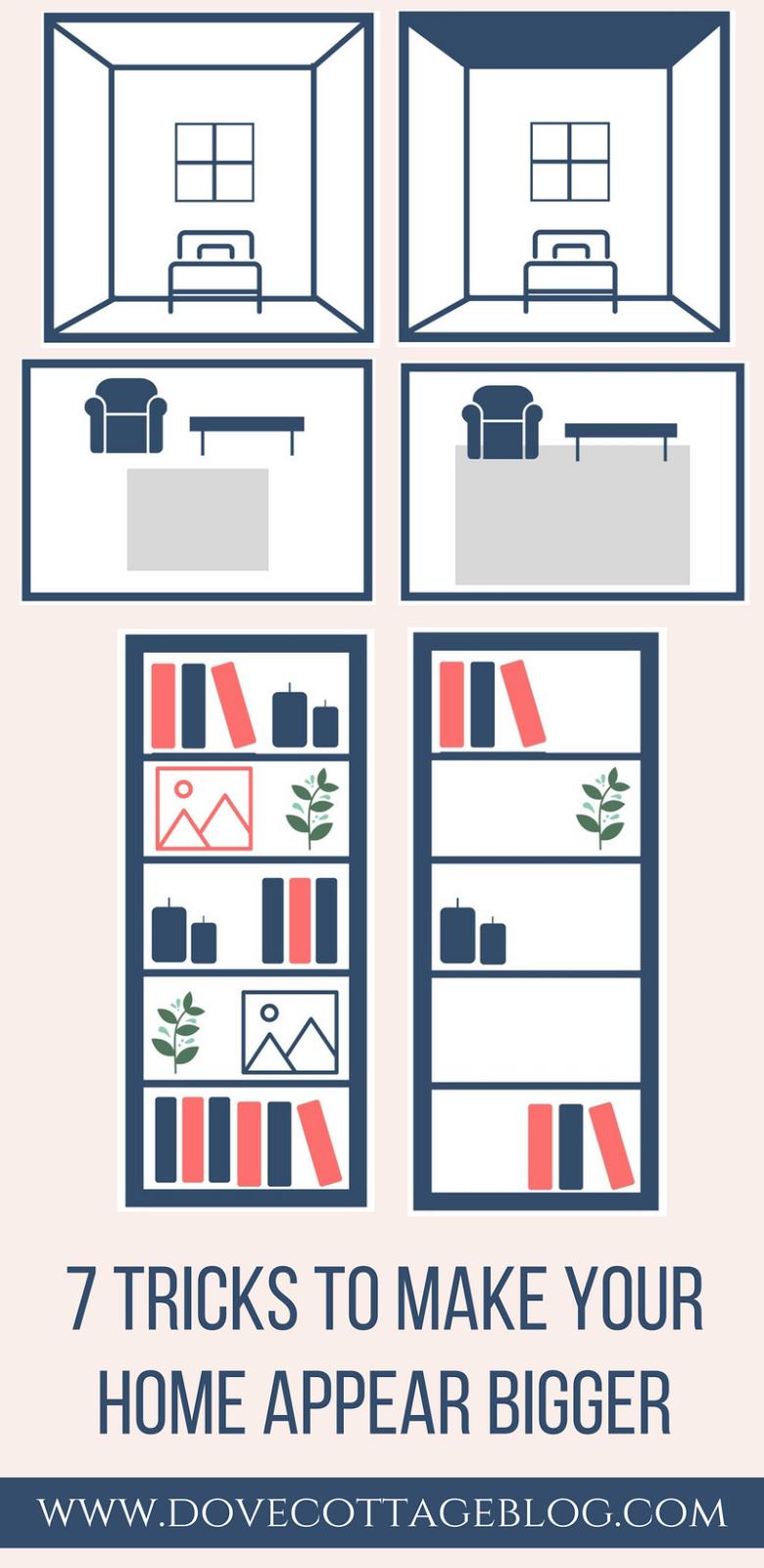 7 tricks to make your home appear bigger dove cottage. Black Bedroom Furniture Sets. Home Design Ideas