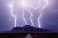 Lightning over Superstition Mountains