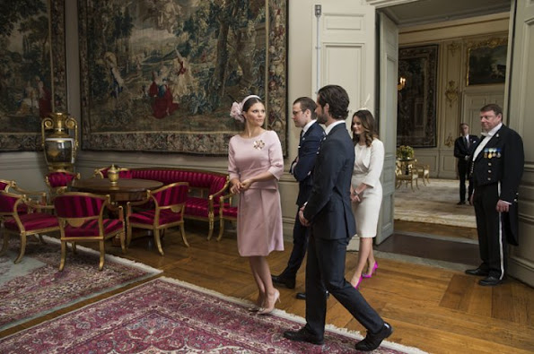 Swedish Royals welcomes the President Michelle Bachelet