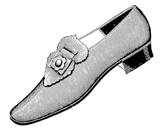 shoe slipper image vintage fashion download clip art