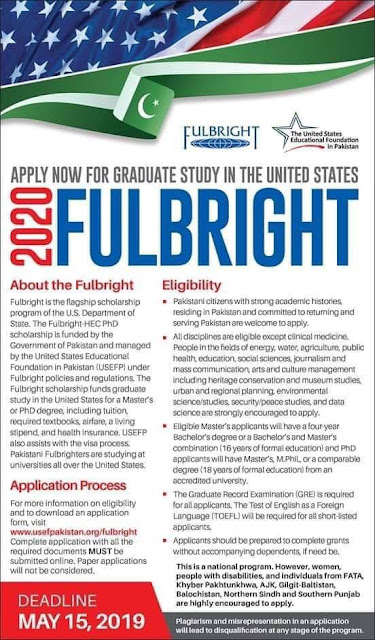 Fully funded Scholarship To USA