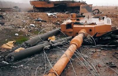 Chilenos muestran su preocupación ante la destrucción de unos tanques Leopards 2A 4 en Siria