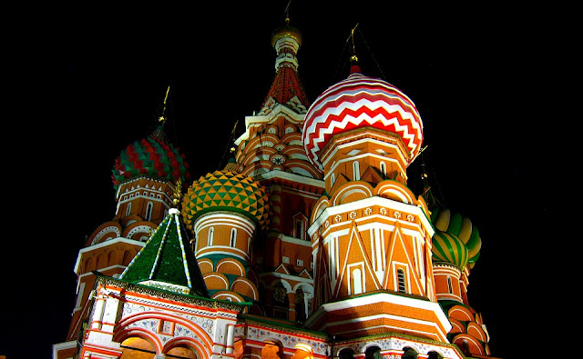 St Basil's Cathedral night