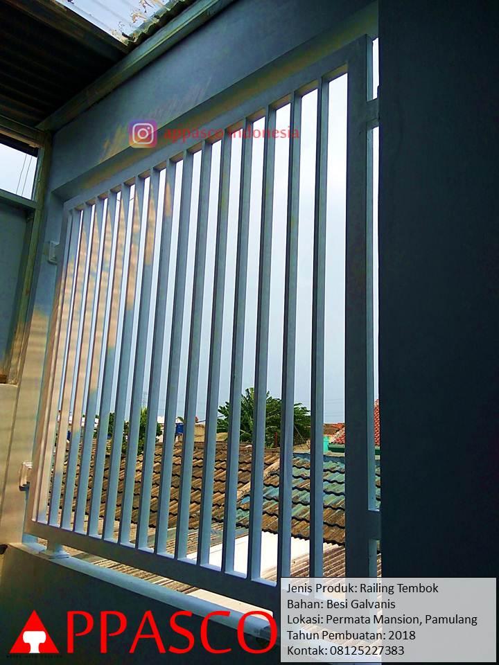 Railing Balkon Tembok sebagai Ventilasi Udara di Pamulang