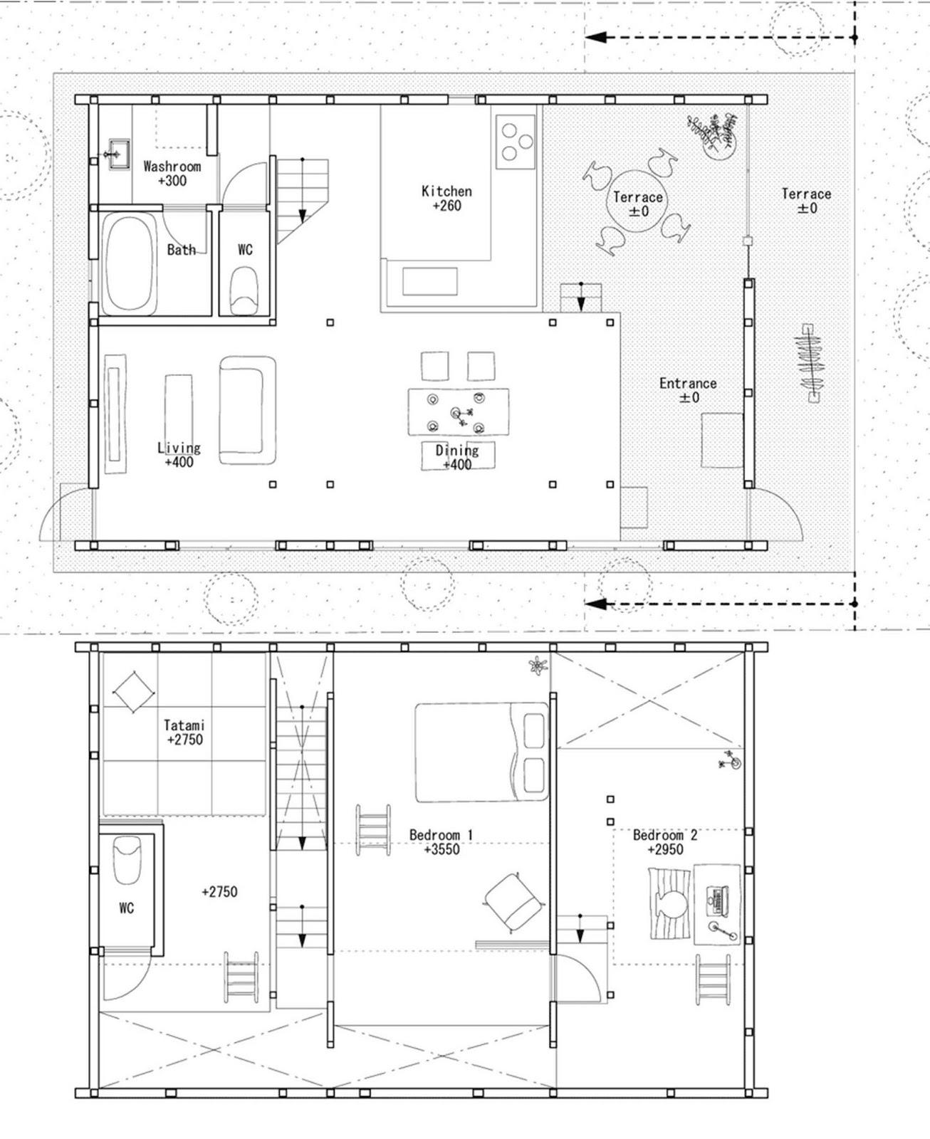 Hiroyuki Shinozaki House H pilastri a forma Y dividono