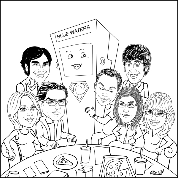 The big bang theory para colorear
