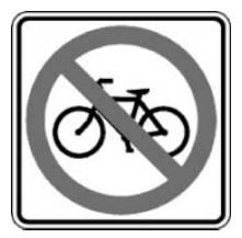 자전거가 다닐 수 없는 길입니다