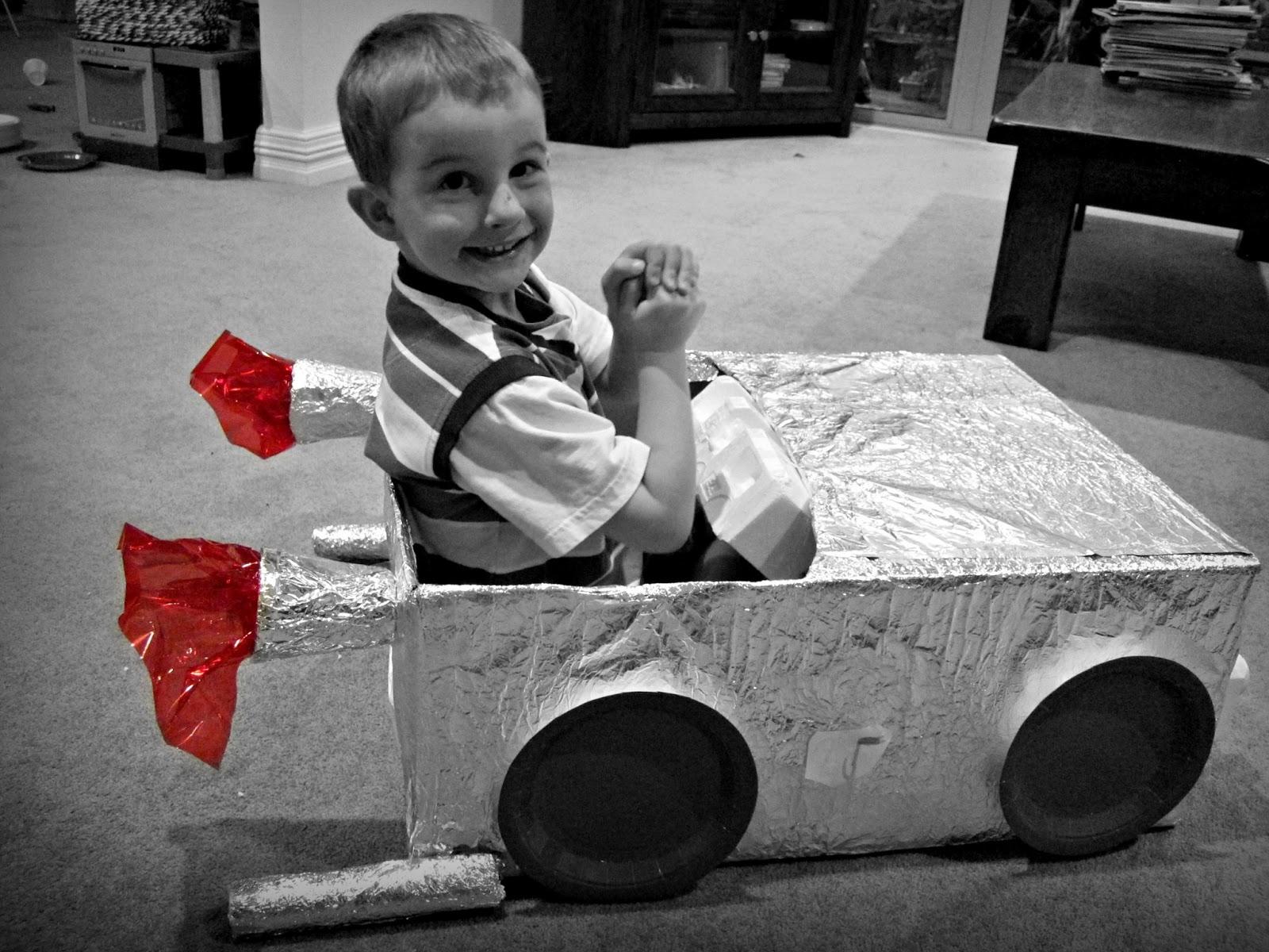 How To: Make A Cardboard Box Car
