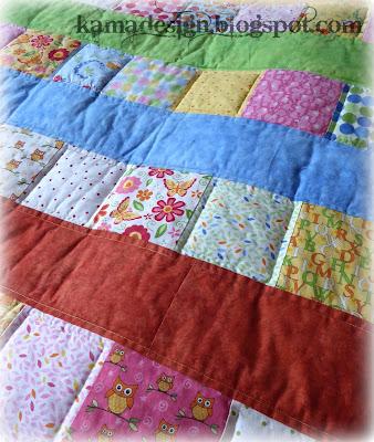 Baby quilt Deb Strain moda fabric Love U