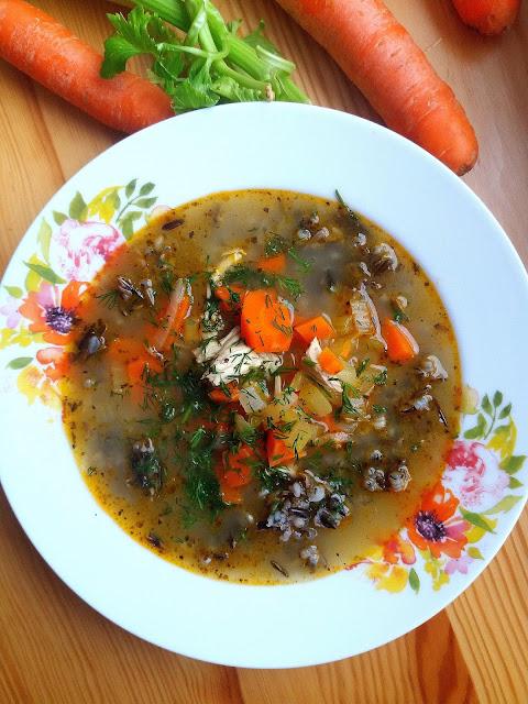 Zupa z kurczakiem i dzikim ryżem / Chicken and Wild Rice Soup