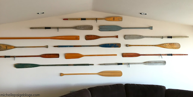 Beachy Oar Wall. Perfect for a large wall.