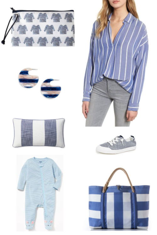 spring inspiration collage - stripes