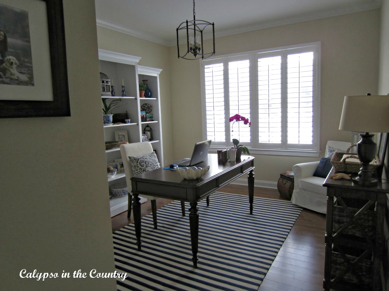 Home Office with Plantation Shutters