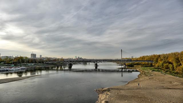 Widok z mostu na Wisłę, Warszawa