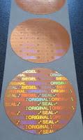 Holgramm mit Schriftzug ORIGINAL-SIEGEL-SEAL